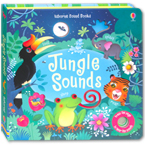 Usborne Jungle Sounds - sound book with 10 touch-sounds, trails to touch & follow and peek-through holes