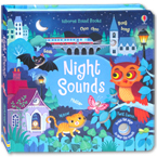 Usborne Night Sounds - sound book with 10 touch-sounds, trails to touch & follow and peek-through holes