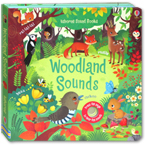 Usborne Woodland Sounds - sound book with 10 touch-sounds, trails to touch & follow and peek-through holes