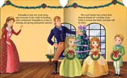 Disney Sofia the First - A Gift from Sofia Board Book with 3 Holiday Ornaments for You!