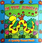In the Jungle - Animal Sparkly Board Book with Sparkling Pictures (Blue)