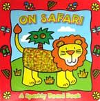 On Safari - Animal Sparkly Board Book with Sparkling Pictures (Red)