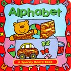 Alphabet Sparkly Board Book with Sparkling Pictures