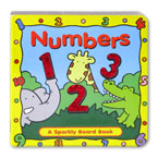 Numbers Sparkly Board Book with Sparkling Pictures
