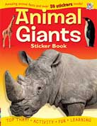 Animal Giants Sticker Book with Amazing Animal Facts and Over 50 Stickers Inside!