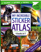 My Incredible STICKER ATLAS (4 Book in 1) With Over 1000 Stickers and 4 Giant Posters!