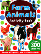 Farm Animals Sticker Activity Book with 300 Stickers - Packed with Puzzles and Fascinating Facts