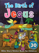 The Birth of Jesus - Bible Story Sticker Book with over 30 stickers