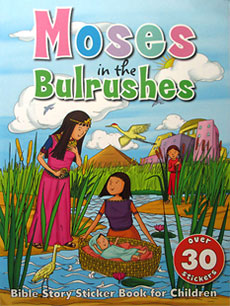 Moses in the Bulrushes - Bible Story Sticker Book with over 30 stickers
