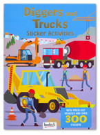 Diggers and Trucks Sticker Activities Book With Press-out Vehicles and Over 300 Sticker