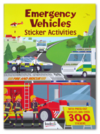 Emergency Vehicles Sticker Activities Book With Press-out Vehicles and Over 300 Stickers
