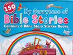 My Carrycase of Bible Stories contains 6 Bible Story Sticker Books (over 150 Stickers)