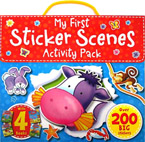 My First Sticker Scenes Activity Pack with over 200 BIG stickers and 4 books