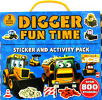 My First JCB Digger Fun Time Sticker and Activity Pack with 3 Books Inside and Over 800 Stickers