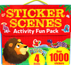 Stickers Scenes Activity Fun Pack With 4 Books and Over 1000 Stickers