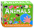 Animals Sticker Activity Suitcase (Includes 6 Books with Over 120 Stickers)