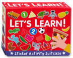 Let's Learn Sticker Activity Suitcase (Includes 6 Books with Over 120 Stickers)