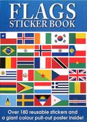 FLAGS Sticker Book with over 180 Reusable Stickers and a Giant Colour Pull-Out Poster Inside!