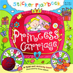 Sticker Playbook Princess Carriage A fold out activity book with 50 reusable vinyl stickers