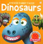 Sticker Funny Faces DINOSAURS - Make & Mix Up Faces with over 50 Reusable Stickers