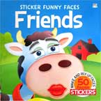 Sticker Funny Faces FRIENDS - Make & Mix Up Faces with over 50 Reusable Stickers