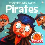 Sticker Funny Faces PIRATES - Make & Mix Up Faces with over 50 Reusable Stickers