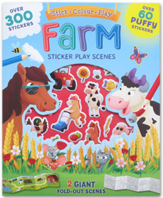 Farm Sticker Play Scenes (Over 300 Stickers, Over 60 Puffy Stickers, and 2 Giant Fold-Out Scenes)