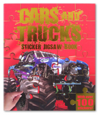 Cars and Trucks Sticker Jigsaw Book (With Over 100 Stickers!)