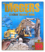 Diggers Sticker Jigsaw Book (With Over 100 Stickers!)