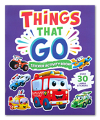 My Things That Go Sticker Picture Book with Over 30 Large Stickers