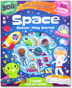 Space Sticker Play Scenes (Over 300 Stickers + Over 60 Puffy Stickers + 2 Giant Fold-out Scenes)