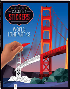 Kaleidoscope Colour by Stickers WORLD LANDMARKS Mosaic Sticker Book