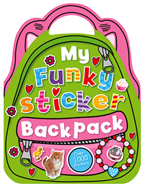 My Funky Sticker Backpack Book with over 1000 Stickers