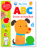 My First ABC Sticker Activity Book with Letter Erasers and over 1000 Stickers (cover Anjing)