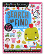 Playtime Learning Search and Find Sticker Activity Book With Over 250 Stickers!