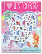 Puffy Sticker Activity Book : I Love Unicorns Over 100 Stickers (Packed with fun activities and cute press-outs!)