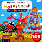 My Marvellous Mosaic Book Includes 7 Mosaic Pictures Over 500 Stickers (BLUE)