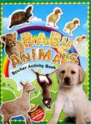 BABY ANIMALS Sticker Activity Book with more than 100 stickers