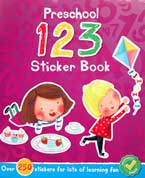 Preschool 123 Sticker Book with over 250 stickers for lots of learning fun