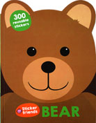 BEAR - Sticker Friends Activity Book with 300 Reusable Stickers