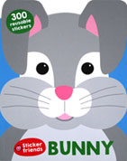 BUNNY - Sticker Friends Activity Book with 300 Reusable Stickers