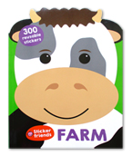 FARM - Sticker Friends Activity Book with 300 Reusable Stickers