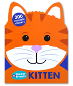 KITTEN - Sticker Friends Activity Book with 300 Reusable Stickers