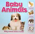 BABY ANIMALS Reference Book with Baby Animal Stickers Inside!
