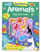 Animals Play Scene Book With 20 Felt Stickers & Over 100 Stickers