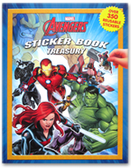 Sticker Book Treasury MARVEL AVENGERS with Over 350 Reusable Sticker