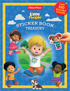 Sticker Book Treasury Fisher Price Little People with Over 350 Reusable Sticker