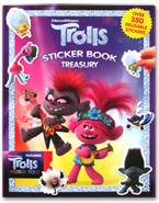 Sticker Book Treasury Dreamworks Trolls World Tour with Over 350 Reusable Stickers