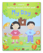 Usborne Dressing Up Sticker Book My Day (With Over 180 Stickers)