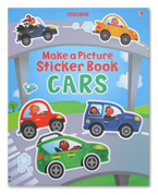 Usborne Make a Picture Stickers Book Cars
